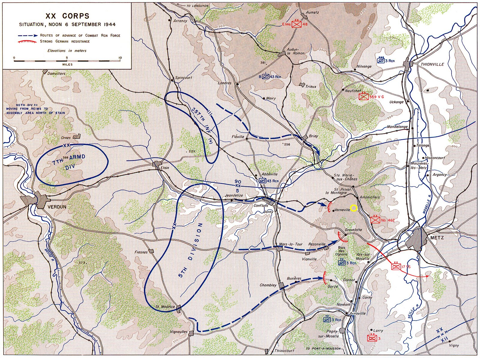 Situation map 06.09.1944
