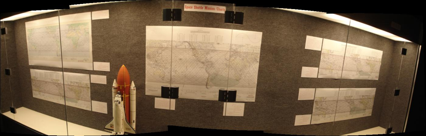 Space Shuttle Mission Chart exhibit
