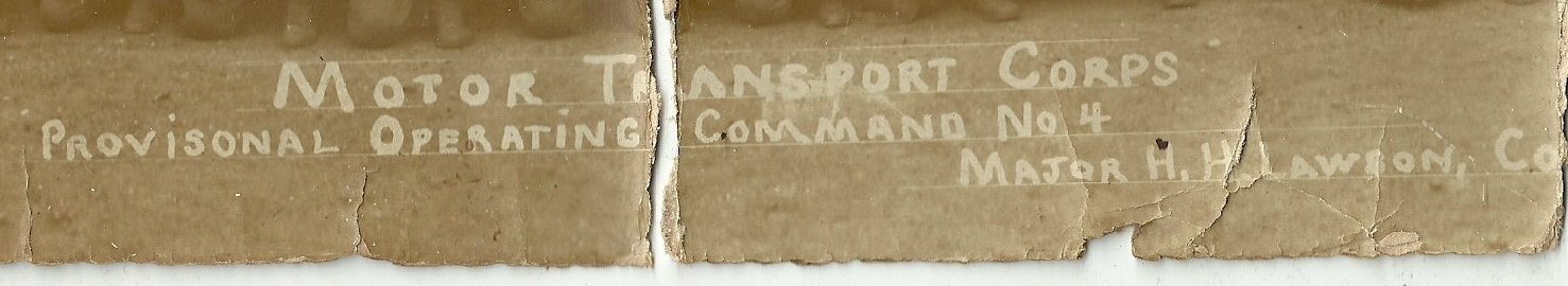 name only of Motor Transport Corps