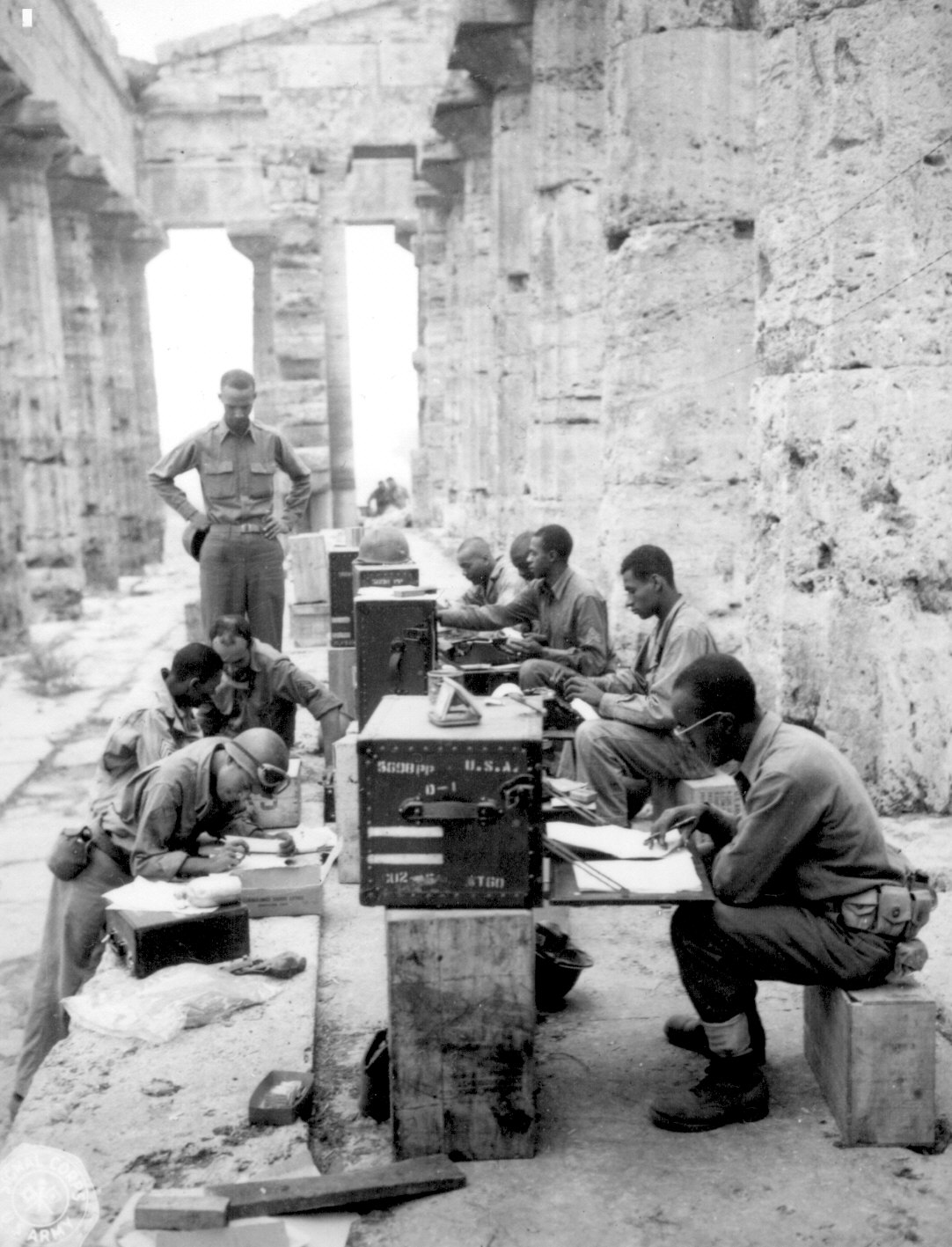 African-American Signal Corps Unit in Italy in 1943