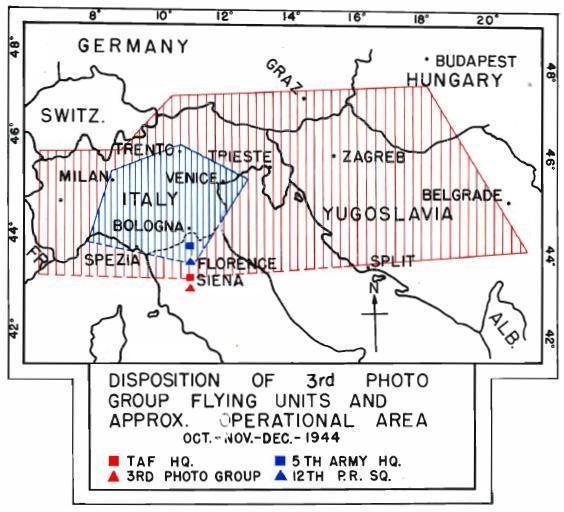 Air Reconnaissance Army Air Force Squadrons in Northern Italy year 1944-1945