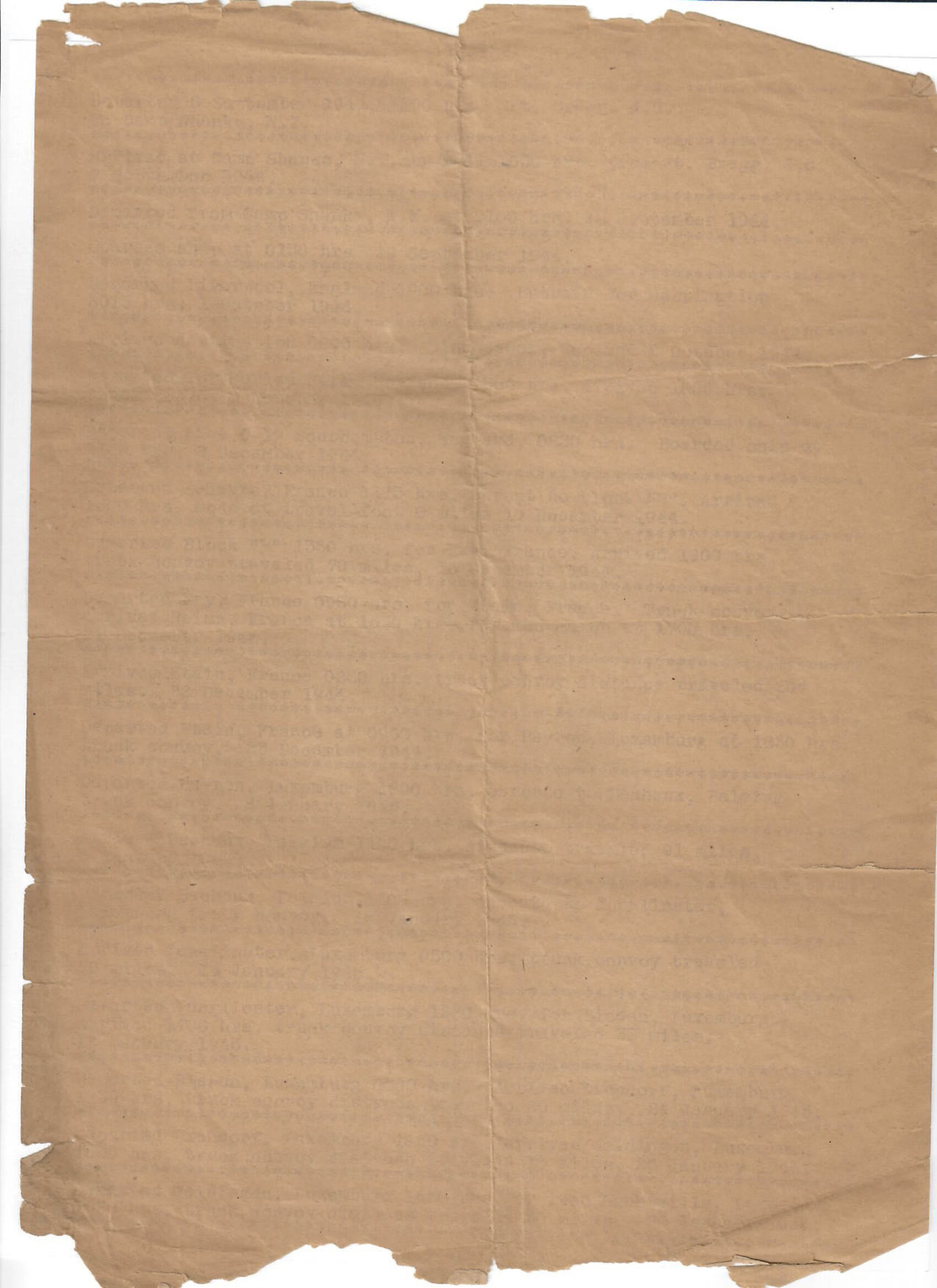 Three pages from Separation Document