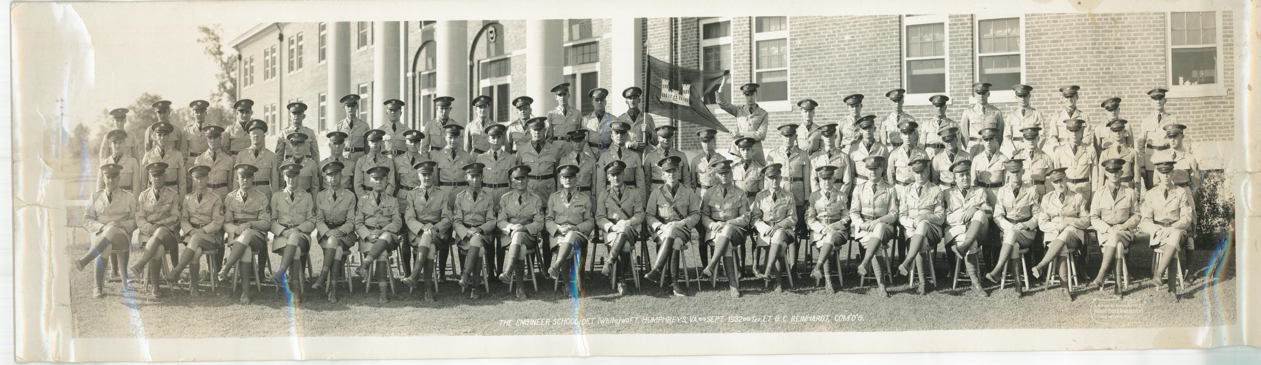 The Engineer School Det., Ft. Humphreys, VA, Sept. 1932, Lt. G.C. Reinhardt, Com'd'g.
