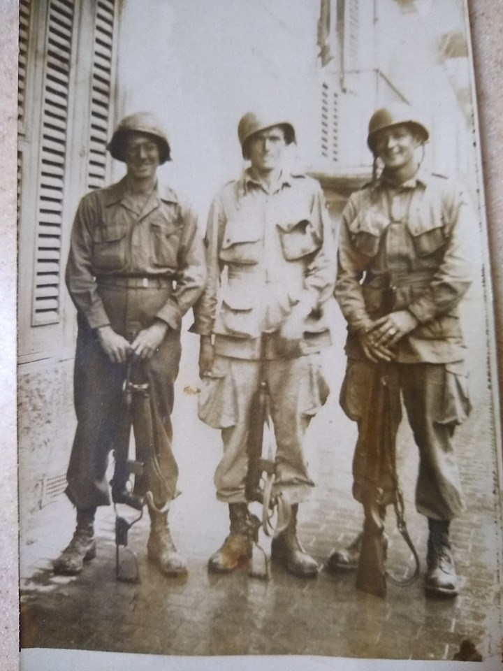 Corporal Beatty is in middle;  photo possibly taken in Italy