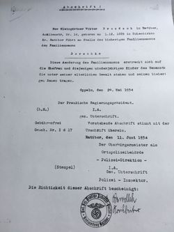 Viktor Dorschke 1934 name change document Pg 2