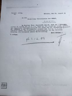 Viktor Dorschke 1934 name change document Pg 3