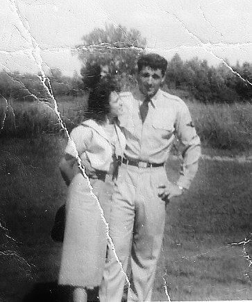 My Mother and Father while he was on leave at home in Arkansas.