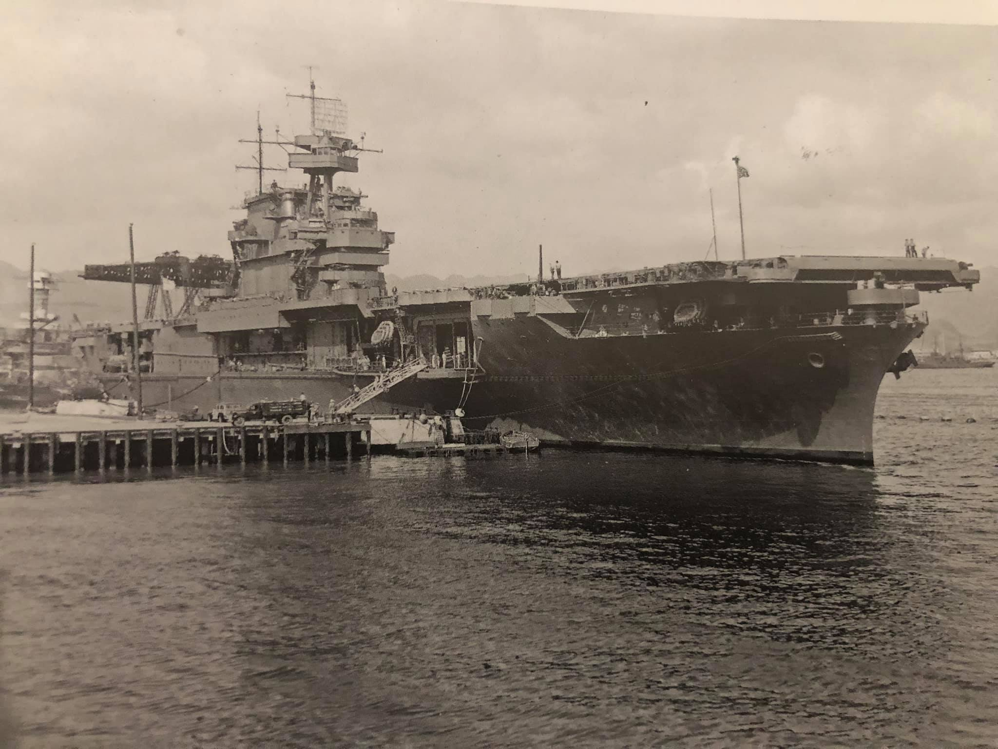 """Enterprise in Pearl Harbor, May 1942 from David Doyle's """"USS Enterprise"""""""