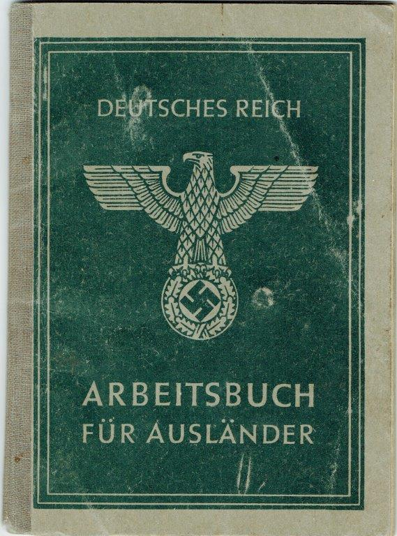 German work booklet cover (from forced labor WWII)