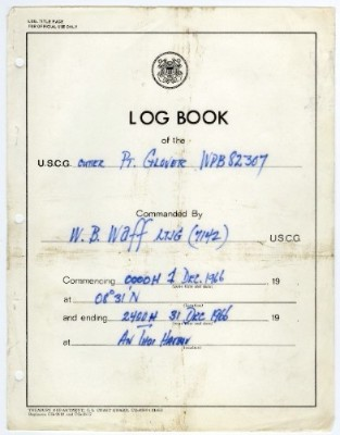 Image of US Coast Guard Logbook