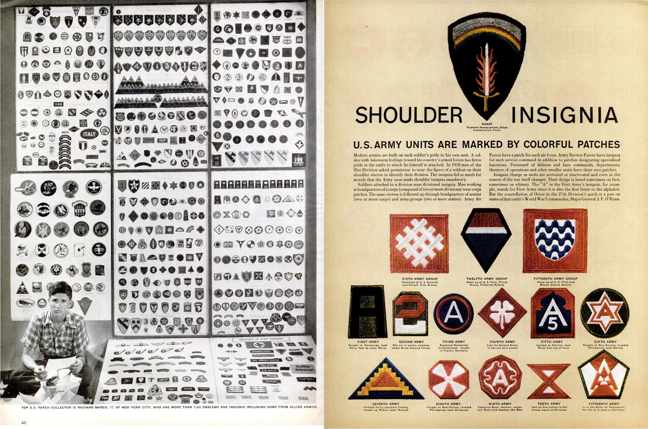 Army Shoulder Insignia - Life, Aug. 6, 1945 - page 1.jpg
