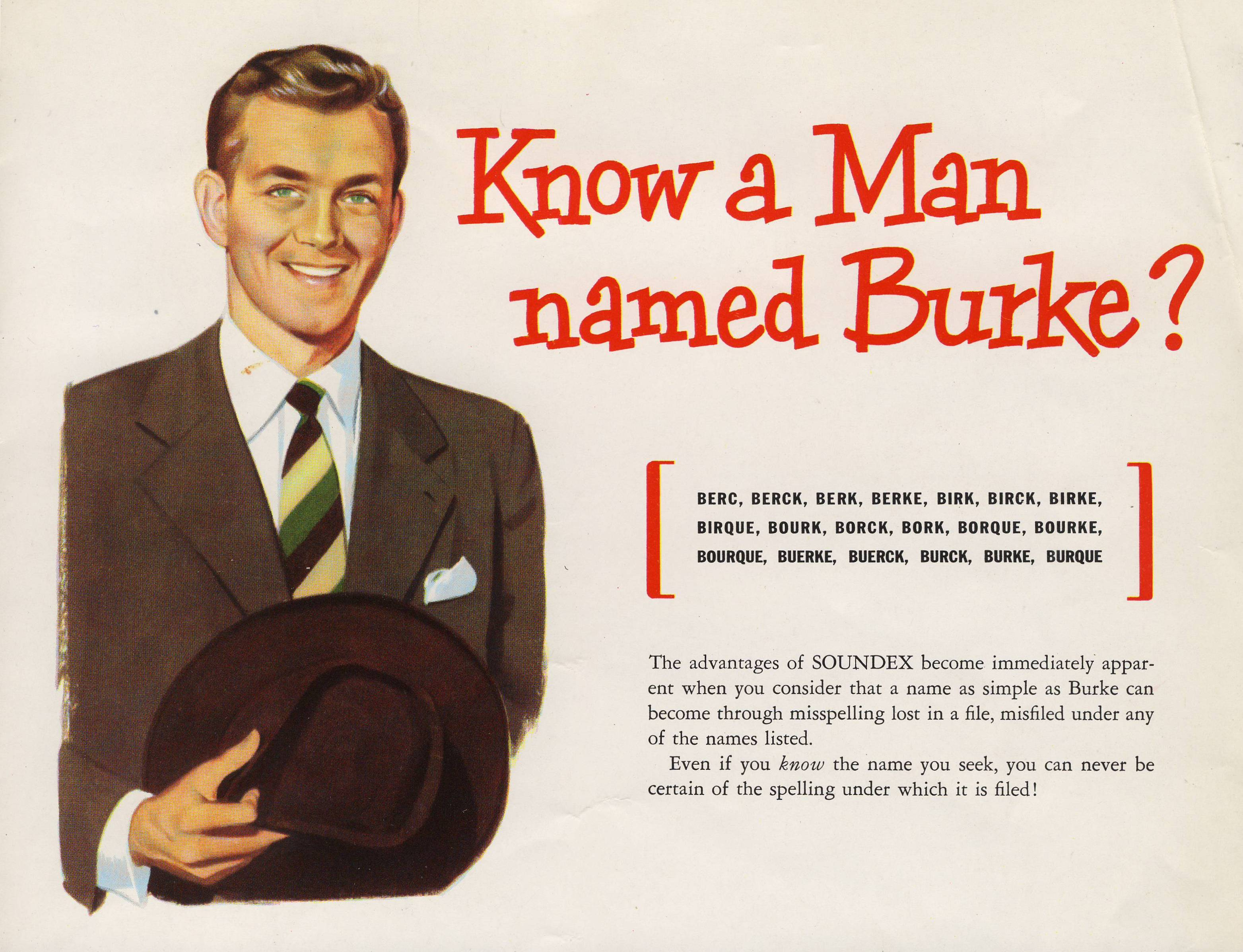 Know a Man Named Burke, from Soundex Catalog - RG 64, P 169, file Policy - Referral of Letters to INS.jpg