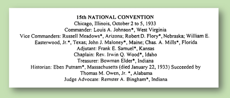 Owen Listed as Historian for American Legion Convention, 1933 - from U.S. Congressional Serial Set, No. 14956, 2005.jpg