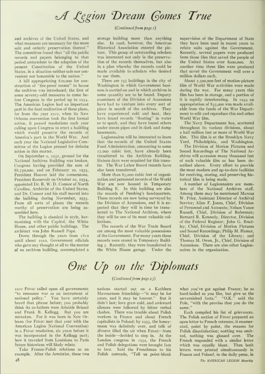 Owen Article - A Legion Dream Comes True, Am. Legion Magazine, March 1937 - page 2.jpg