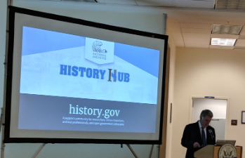 History Hub introduction by Archivist of the United States David Ferriero