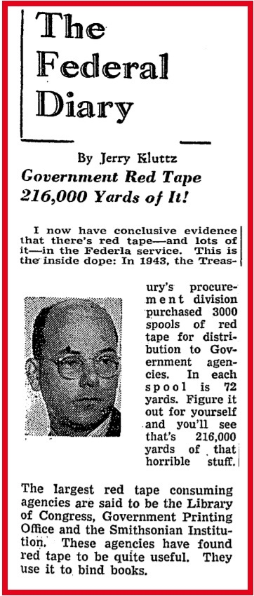 Government Buys Red Tape, too - Wash. Post, March 6, 1944.jpg