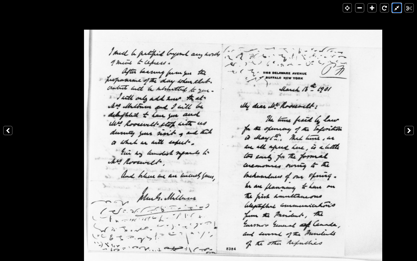 First and last pages of John Milburn's letter to TR