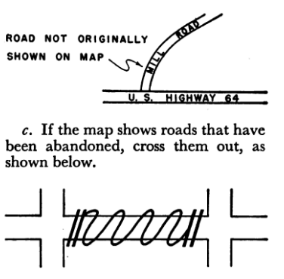 1950 Census - Example of Map Corrections to be Made by Enumerator on His or Her Map