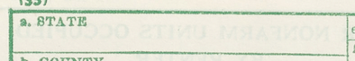 """Item a"" - Form P1, Population and Housing Schedule, 1950 Census, USA"