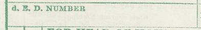 """Item d"" - Form P1, Population and Housing Schedule, 1950 Census, USA"
