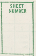 Box for Sheet Number - Form P1, Population and Housing Schedule, 1950 Census, USA