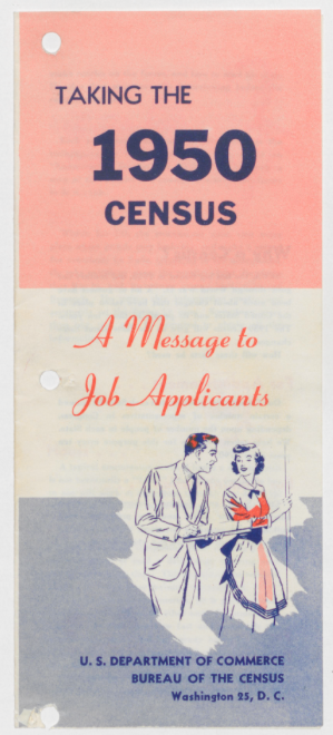Taking the 1950 Census - A Message to Job Applicants